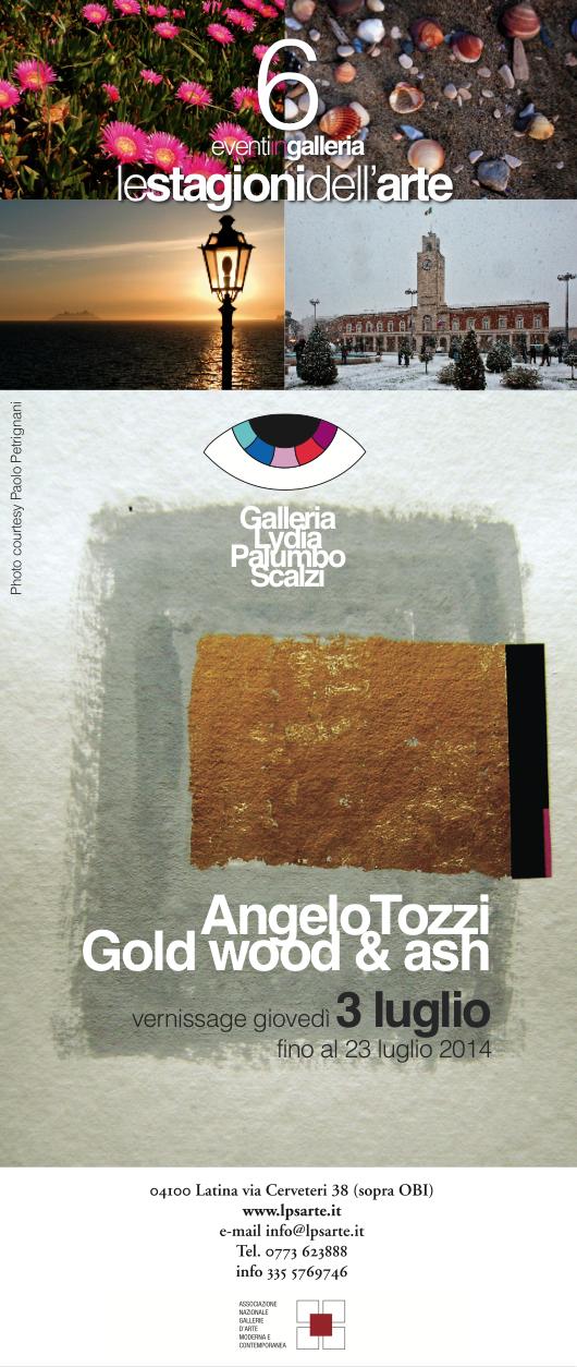 Gold Wood & Ash – personale del maestro Angelo Tozzi
